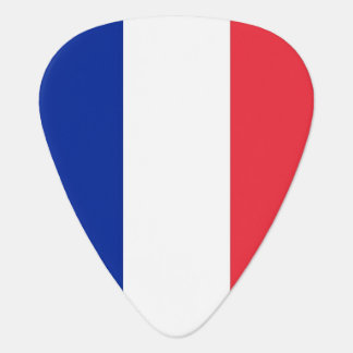 Patriotic guitar pick with Flag of France