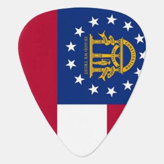 Patriotic guitar pick with Flag of Georgia