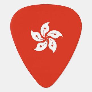 Patriotic guitar pick with Flag of Hong Kong