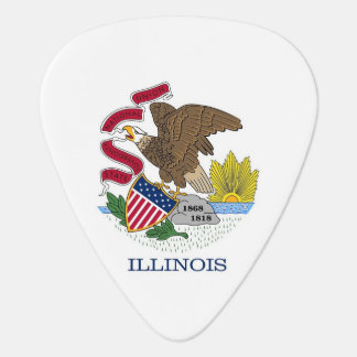 Patriotic guitar pick with Flag of Illinois