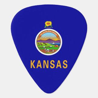 Patriotic guitar pick with Flag of Kansas