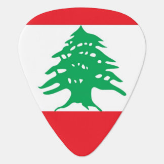 Patriotic guitar pick with Flag of Lebanon