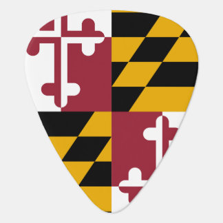 Patriotic guitar pick with Flag of Maryland