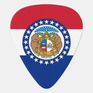 Patriotic guitar pick with Flag of Missouri