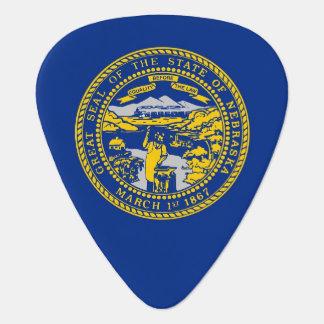 Patriotic guitar pick with Flag of Nebraska