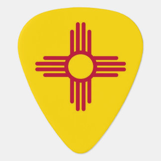 Patriotic guitar pick with Flag of New Mexico
