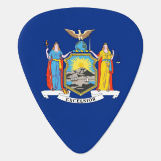 Patriotic guitar pick with Flag of New York