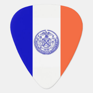 Patriotic guitar pick with Flag of New York City