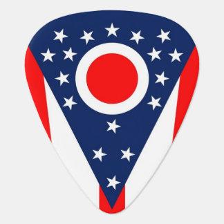 Patriotic guitar pick with Flag of Ohio