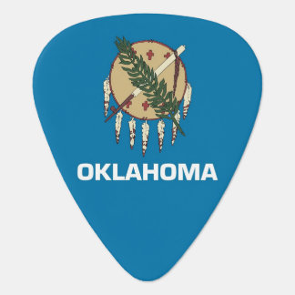 Patriotic guitar pick with Flag of Oklahoma State