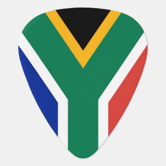 Patriotic guitar pick with Flag of South Africa
