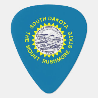 Patriotic guitar pick with Flag of South Dakota