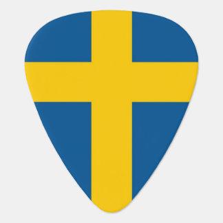Patriotic guitar pick with Flag of Sweden