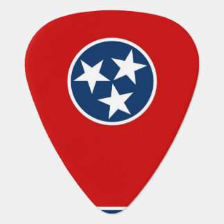 Patriotic guitar pick with Flag of Tennessee