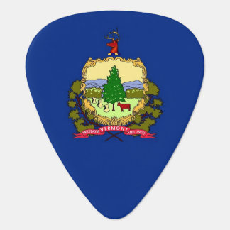 Patriotic guitar pick with Flag of Vermont