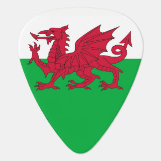 Patriotic guitar pick with Flag of Wales