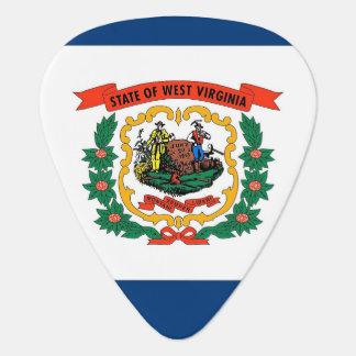 Patriotic guitar pick with Flag of West Virginia