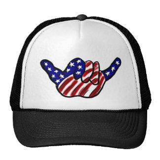 Patriotic hang loose hat