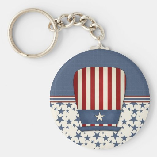 Patriotic Hat Key Chain