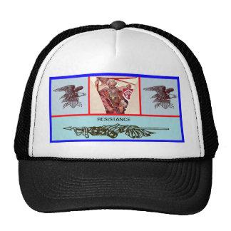 Patriotic hat using an Alphonse Mucha image
