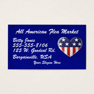 Patriotic Heart Business Cards