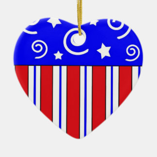 Patriotic Heart Christmas Ornament
