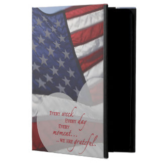 Patriotic Heart Flag, Military Appreciation iPad Air Cover