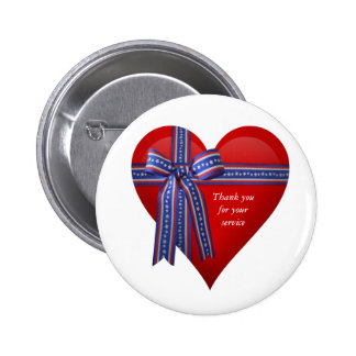 Patriotic Heart graphic 2 Inch Round Button