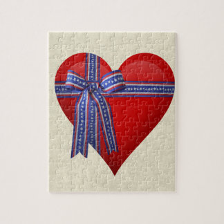 Patriotic Heart graphic Jigsaw Puzzle