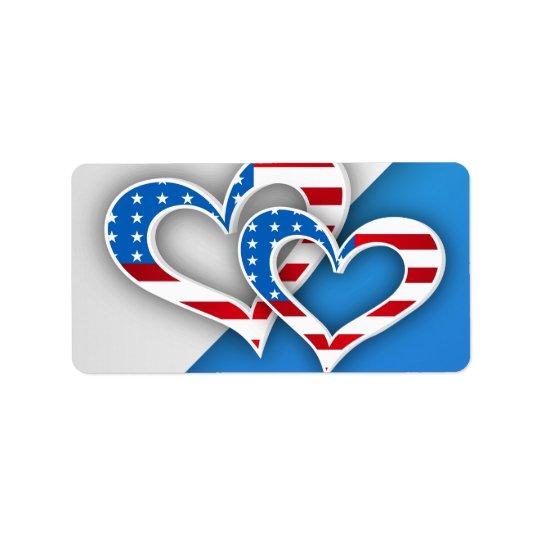 Patriotic Hearts Label