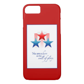 Patriotic Hero Wall of Glory, Thank You Military iPhone 8/7 Case