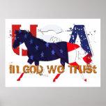 Patriotic Horse - In God We Trust