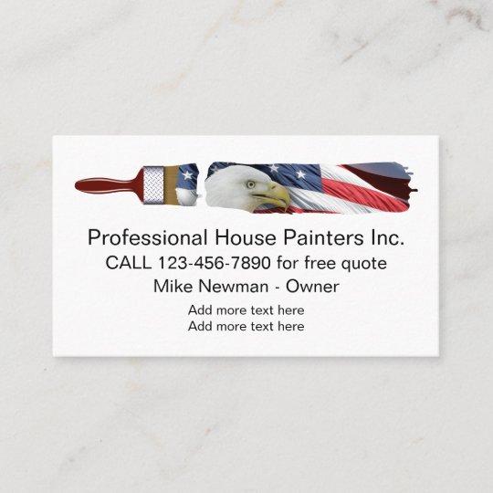 Patriotic House Painter Design Business Card