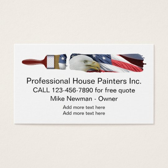 Patriotic House Painter Design Business Card