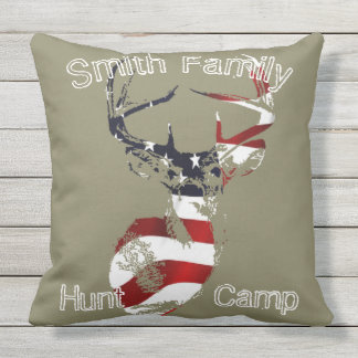 Patriotic Hunt Camp Pillow