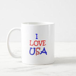 Patriotic I Love USA Coffee Mug