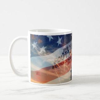 Patriotic independence day lady liberty USA mug