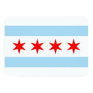 Patriotic invitations with Flag of Chicago