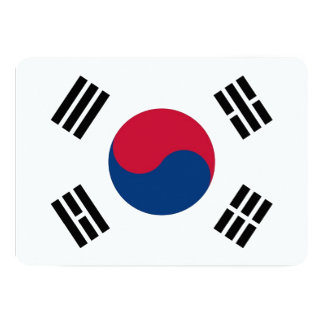 Patriotic invitations with South Korea Flag