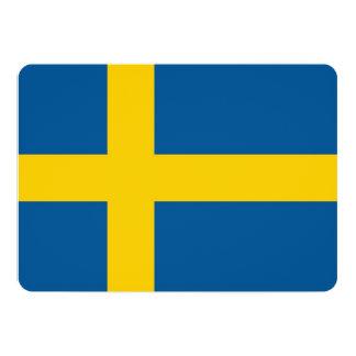 Patriotic invitations with Sweden Flag