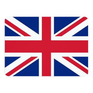 Patriotic invitations with United Kingdom Flag