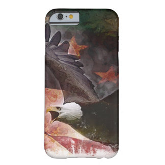 Patriotic iPhone 6 case with Bald Eagle and Flag Barely There iPhone 6 Case