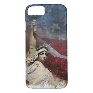 Patriotic iPhone 7 Case with Statue of Liberty