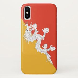 Patriotic Iphone X Case with Bhutan Flag