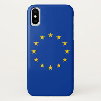 Patriotic Iphone X Case with European Union Flag