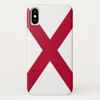 Patriotic Iphone X Case with Flag of Alabama