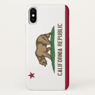 Patriotic Iphone X Case with Flag of California