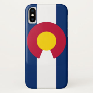 Patriotic Iphone X Case with Flag of Colorado