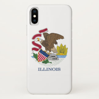 Patriotic Iphone X Case with Flag of Illinois