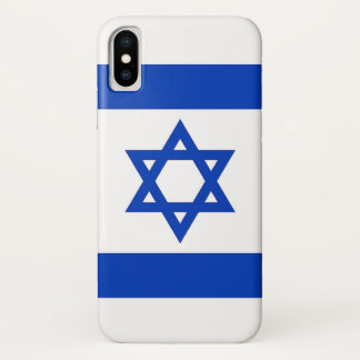Patriotic Iphone X Case with Flag of Israel